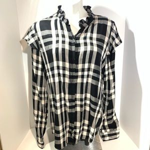 Sanctuary Nightfall Shirt Sparkly Flannel LIKE NEW